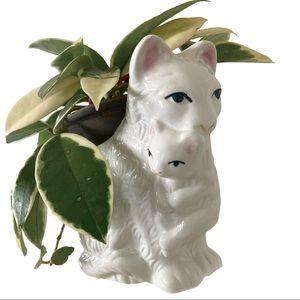 Ceramic Persian Cat Planter, vintage